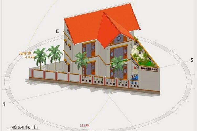 Khi xây nhà trên mảnh đất hình tam giác, cần phải có sự cân nhắc bàn bạc kỹ về thiết kế