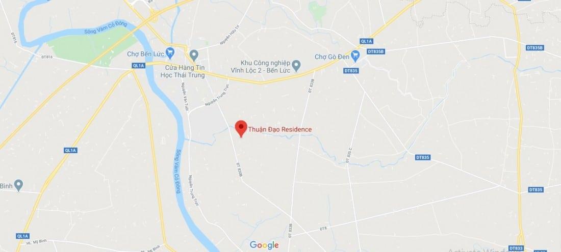 Vị trí dự án Thuận Đạo Residence